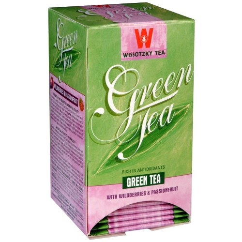 Zelený čaj s lesními plody a mučenkou, Wissotzky 20 x 1,5 g