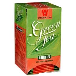 Zelený čaj s jablkem a skořicí, Wissotzky 20 x 1,5 g