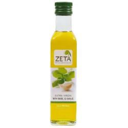 Extra panenský olivový olej s bazalkou a česnekem, Zeta 250 ml